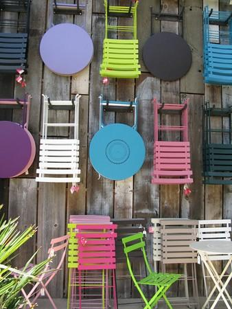 "Outdoor furniture and accessories by Fermob. <span class=""copyright"">(Deborah Netburn)</span>"