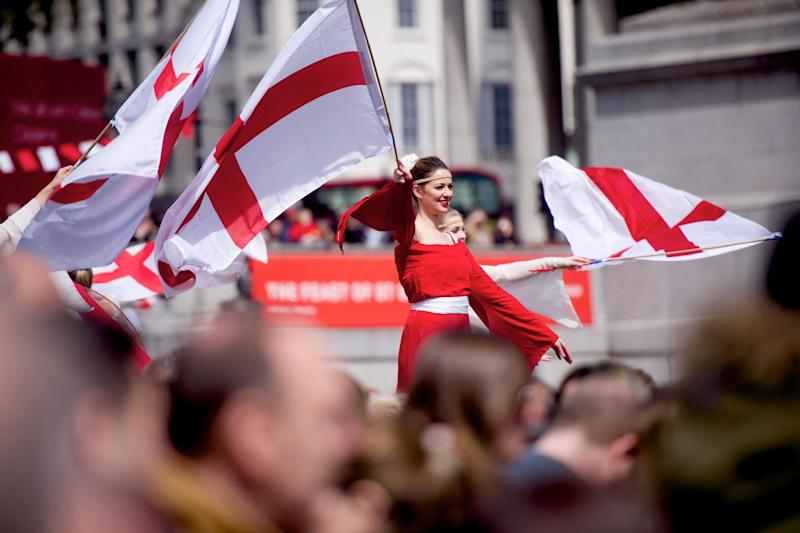 Flying the flag: celebrations in Trafalgar Square: Tom Simpson/Greater London Authority