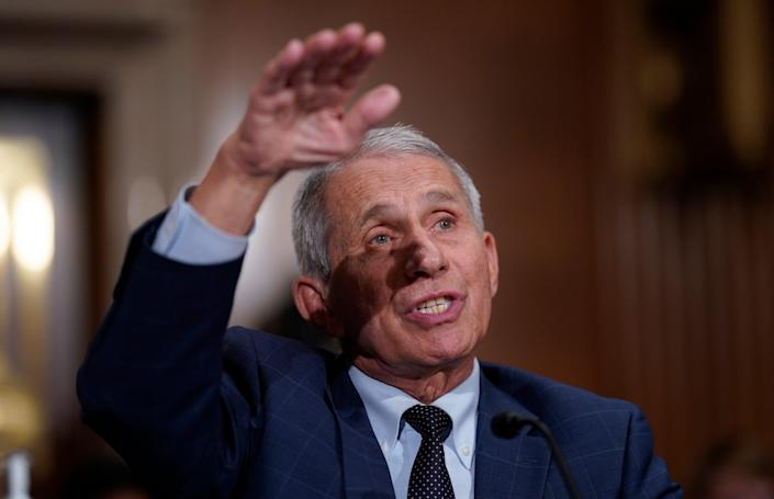File image: Fauci's support comes after two Democrats pushed to make a vaccine certificate or Covid negative report mandatory for travel (AP)