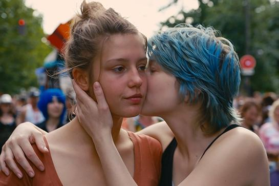 """<em><strong><h3>Blue Is The Warmest Color</h3></strong></em><h3> (2013)<br></h3>This French film explores a romance between two young women and shows the excitement of experiencing true intimacy for the first time. Check it out for the sweet romance, stay for the sexy, sexy scenes.<br><br><span class=""""copyright"""">Photo: Wild Bunch</span>"""