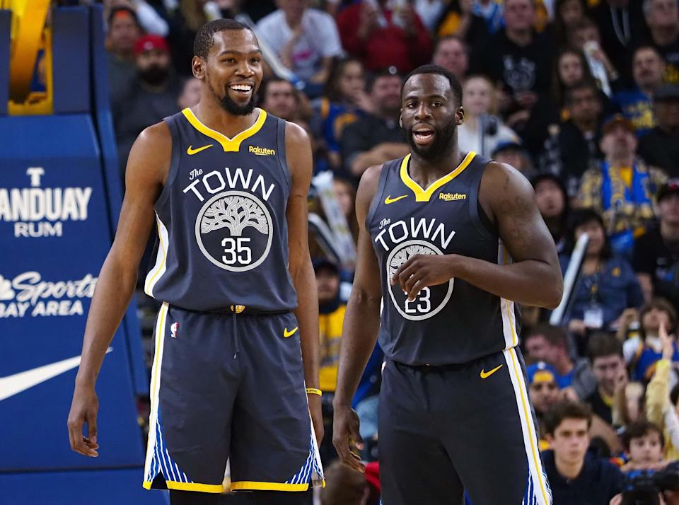 Kevin Durant and Draymond Green were teammates for three seasons with the Warriors.