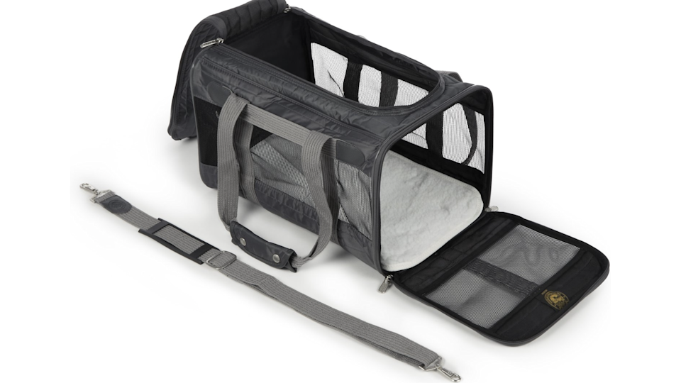 This carrier will make transporting your pet a whole lot easier.