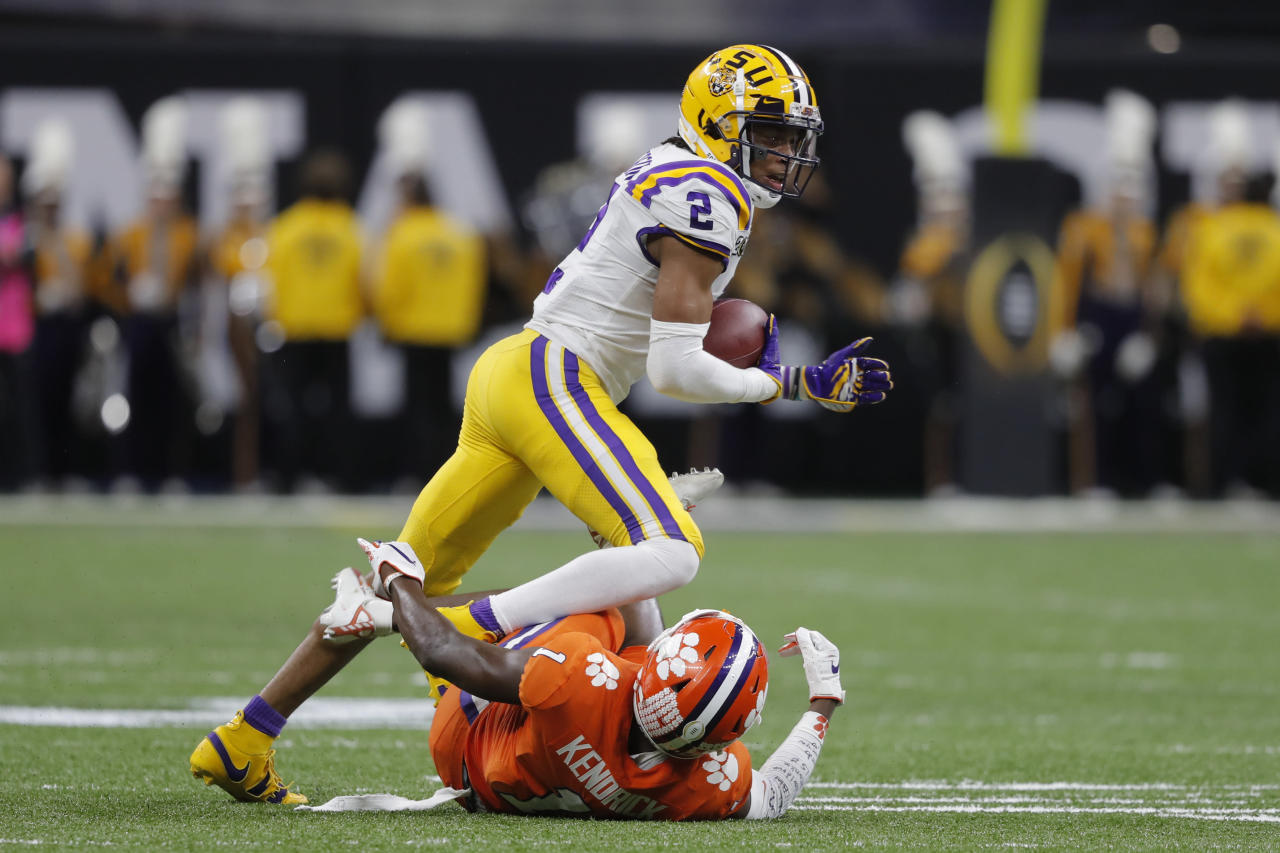 LSU's Justin Jefferson says money given to him by Odell Beckham Jr. was donated to his church