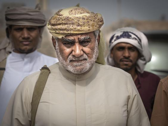 Sheikh Ali Salem al-Huraizi, a tribal leader who says he will fight the STC if it comes to Mahra (Bel Trew)