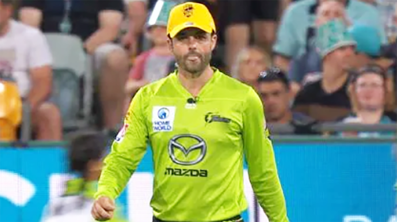 Callum Ferguson, pictured here wearing the golden cap in the BBL opener.