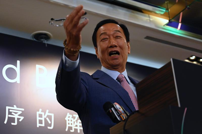 Terry Gou, founder of Taiwans Foxconn, speaks during the G2 and Beyond forum organized by the Digitimes, in Taipei on June 22, 2019. (Photo by Sam YEH / AFP) (Photo credit should read SAM YEH/AFP/Getty Images)