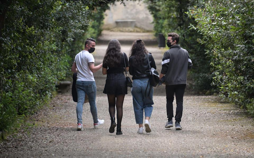 The Boboli Gardens reopened to visitors in Florence - Getty