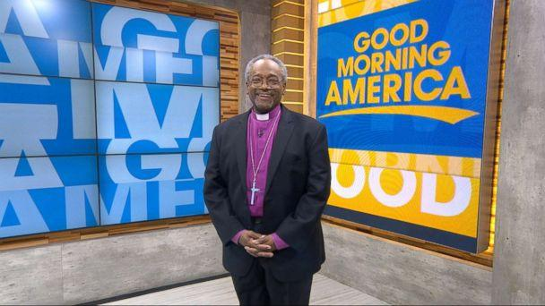 PHOTO: The Most Rev. Michael Bruce Curry speaks out on 'GMA' about delivering the sermon at Prince Harry and Meghan Markle's royal wedding. (ABC)