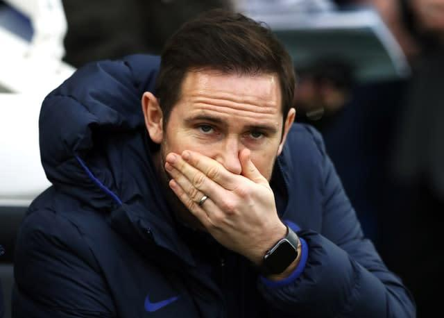 Frank Lampard is suffering with a bug (Gareth Fuller/PA)