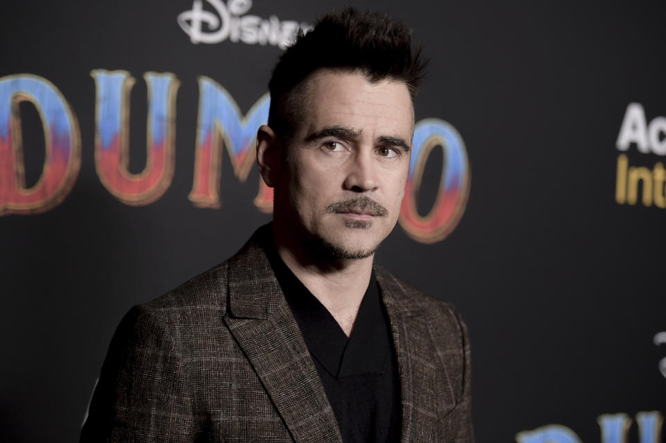 """Colin Farrell attends the LA premiere of """"Dumbo"""" at the Dolby Theatre on Monday, March 11, 2019, in Los Angeles. (Photo by Richard Shotwell/Invision/AP)"""