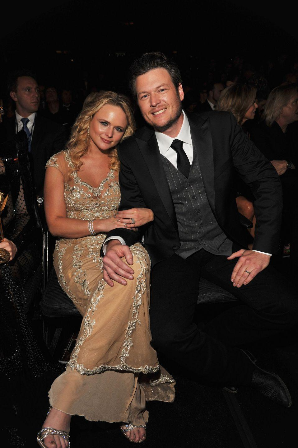 <p>Blake Shelton files for divorce from fellow country singer Miranda Lambert. The pair were married for four years and dated for six years before that.</p>
