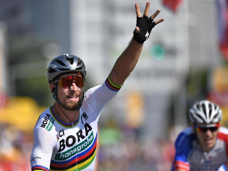 Sagan will inherit the yellow jersey on day three (AFP/Getty)