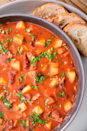 "<p>Much lighter than the original version, but just as tasty. </p><p>Get the recipe from <a href=""https://www.delish.com/cooking/recipe-ideas/recipes/a282/easy-manhattan-style-clam-chowder/"" rel=""nofollow noopener"" target=""_blank"" data-ylk=""slk:Delish"" class=""link rapid-noclick-resp"">Delish</a>. </p>"
