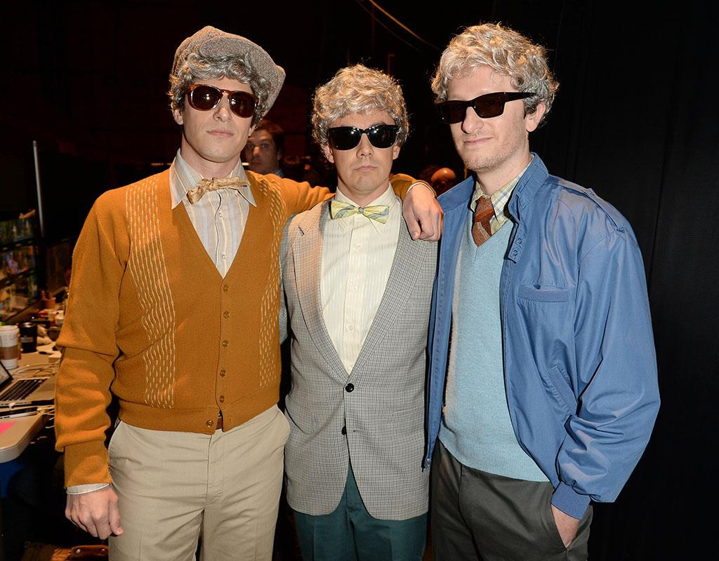 CULVER CITY, CA - JUNE 08:  (L-R) Comedians Andy Samberg, Jorma Taccone and Akiva Schaffer of The Lonely Island attend Spike TV's Guys Choice 2013 at Sony Pictures Studios on June 8, 2013 in Culver City, California.  (Photo by Jason Merritt/Getty Images for Spike TV)