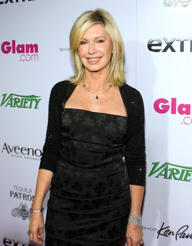 "Diagnosed in 1992, Olivia Newton-John's battle with breast cancer inspired her to write and produce the album <i>Gaia,</i> which reflects upon her personal experience with the disease. Chelsea Lauren/<a href=""http://www.wireimage.com"" target=""new"">WireImage.com</a> - February 22, 2009"