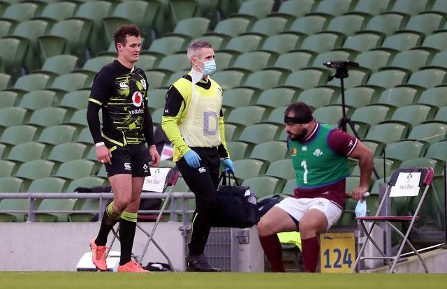 Billy Burns' impressive full debut for Ireland was cut short by a groin injury