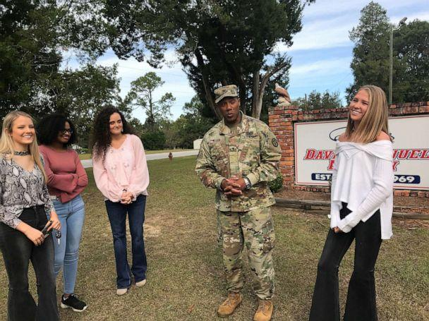 PHOTO: Gen. Vincent Buggs poses with members of the senior class at David Emanuel Academy in Stillmore, Georgia. (David Emanuel Academy)