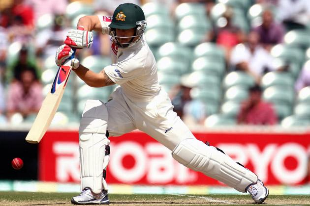 Matthew Wade of Australia bats during day two of the Second Test match between Australia and South Africa at Adelaide Oval on November 23, 2012 in Adelaide, Australia.  (Photo by Mark Kolbe/Getty Images)