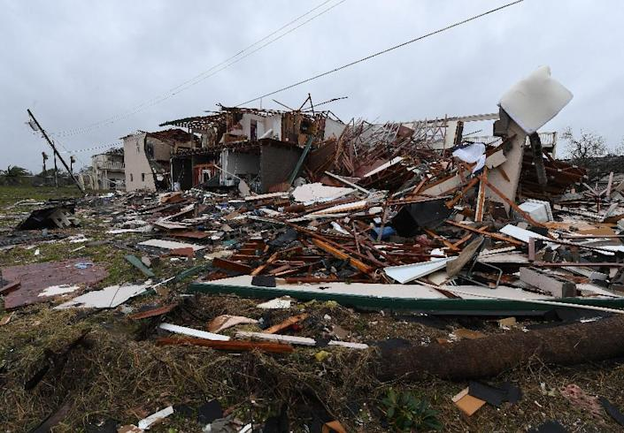 Hurricane Harvey has left a trail of destruction in its wake and scientists say global warming means that the worst ones are becoming ever stronger (AFP Photo/MARK RALSTON)