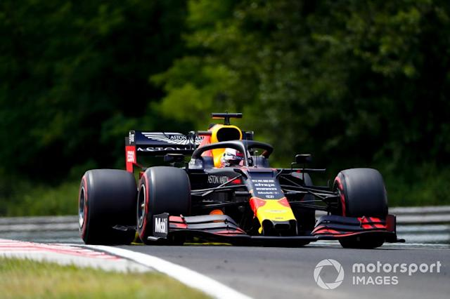 "Max Verstappen, Red Bull Racing RB15 <span class=""copyright"">Sam Bloxham / LAT Images</span>"