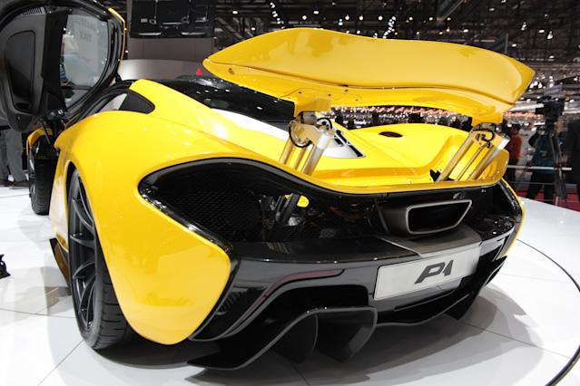 <strong>McLaren P1</strong>: With petrol and electric power, the P1 promises staggering performance yet with the option of zero emissions for short bursts; it's a greenie's worst nightmare. (PA)