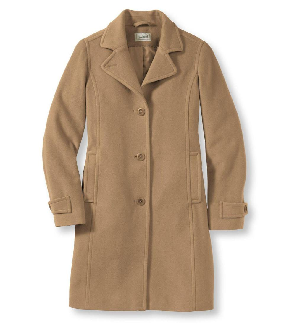"""<p><strong>L.L.Bean</strong></p><p>llbean.com</p><p><strong>$249.00</strong></p><p><a href=""""https://go.redirectingat.com?id=74968X1596630&url=https%3A%2F%2Fwww.llbean.com%2Fllb%2Fshop%2F62463&sref=https%3A%2F%2Fwww.goodhousekeeping.com%2Fclothing%2Fwinter-coat-reviews%2Fg2273%2Fhighest-rated-womens-winter-coats%2F"""" rel=""""nofollow noopener"""" target=""""_blank"""" data-ylk=""""slk:Shop Now"""" class=""""link rapid-noclick-resp"""">Shop Now</a></p><p><strong>Insulation:</strong> Lambswool with polyester fill<br><strong>Best for:</strong> Everyday wear<br></p><p>This quarter-length style, also available in <a href=""""https://go.redirectingat.com?id=74968X1596630&url=https%3A%2F%2Fwww.llbean.com%2Fllb%2Fshop%2F61752&sref=https%3A%2F%2Fwww.goodhousekeeping.com%2Fclothing%2Fwinter-coat-reviews%2Fg2273%2Fhighest-rated-womens-winter-coats%2F"""" rel=""""nofollow noopener"""" target=""""_blank"""" data-ylk=""""slk:full-length"""" class=""""link rapid-noclick-resp"""">full-length</a>, is a classic, luxe coat that will keep you nice and toasty. It's <strong>made of 100% Italian lambswool, which is softer and smoother than regular wool.</strong> It has a polyester lining and is filled with Thinsulate, a down-alternative insulation. The style itself is timeless and flattering and its available in a wide range of sizes, including plus and petite. </p>"""