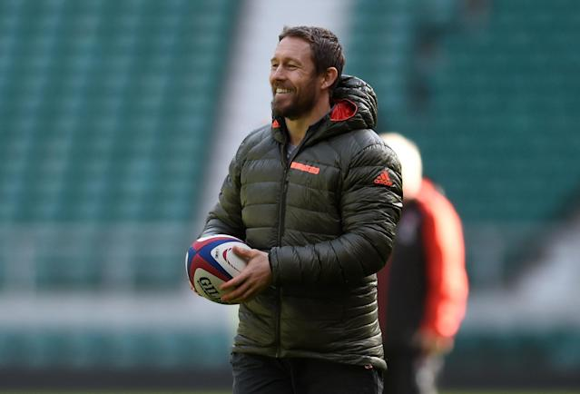 Rugby Union - England Training - Twickenham Stadium, London, Britain - February 16, 2018 Former England player Jonny Wilkinson during training Action Images via Reuters/Adam Holt