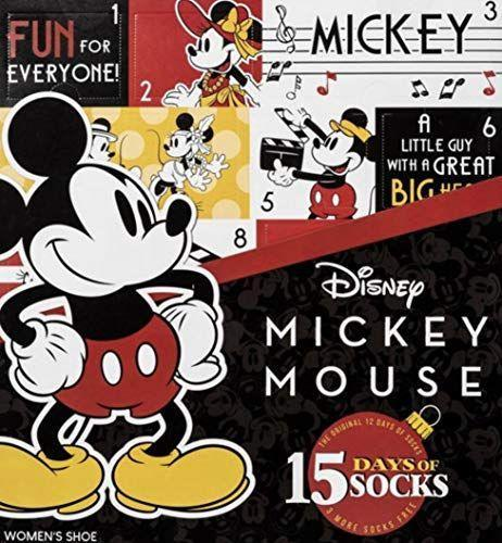 """<p><strong>Mickey Mouse</strong></p><p>amazon.com</p><p><strong>$49.99</strong></p><p><a href=""""https://www.amazon.com/dp/B07XJL6PF1?tag=syn-yahoo-20&ascsubtag=%5Bartid%7C10055.g.29429168%5Bsrc%7Cyahoo-us"""" rel=""""nofollow noopener"""" target=""""_blank"""" data-ylk=""""slk:Shop Now"""" class=""""link rapid-noclick-resp"""">Shop Now</a></p><p>Wear everyone's favorite mouse for 15 days in a row with this sock Advent calendar that includes three bonus pairs. It's a great gift for Disney lovers to turn wherever you walk into the happiest place on Earth. </p>"""