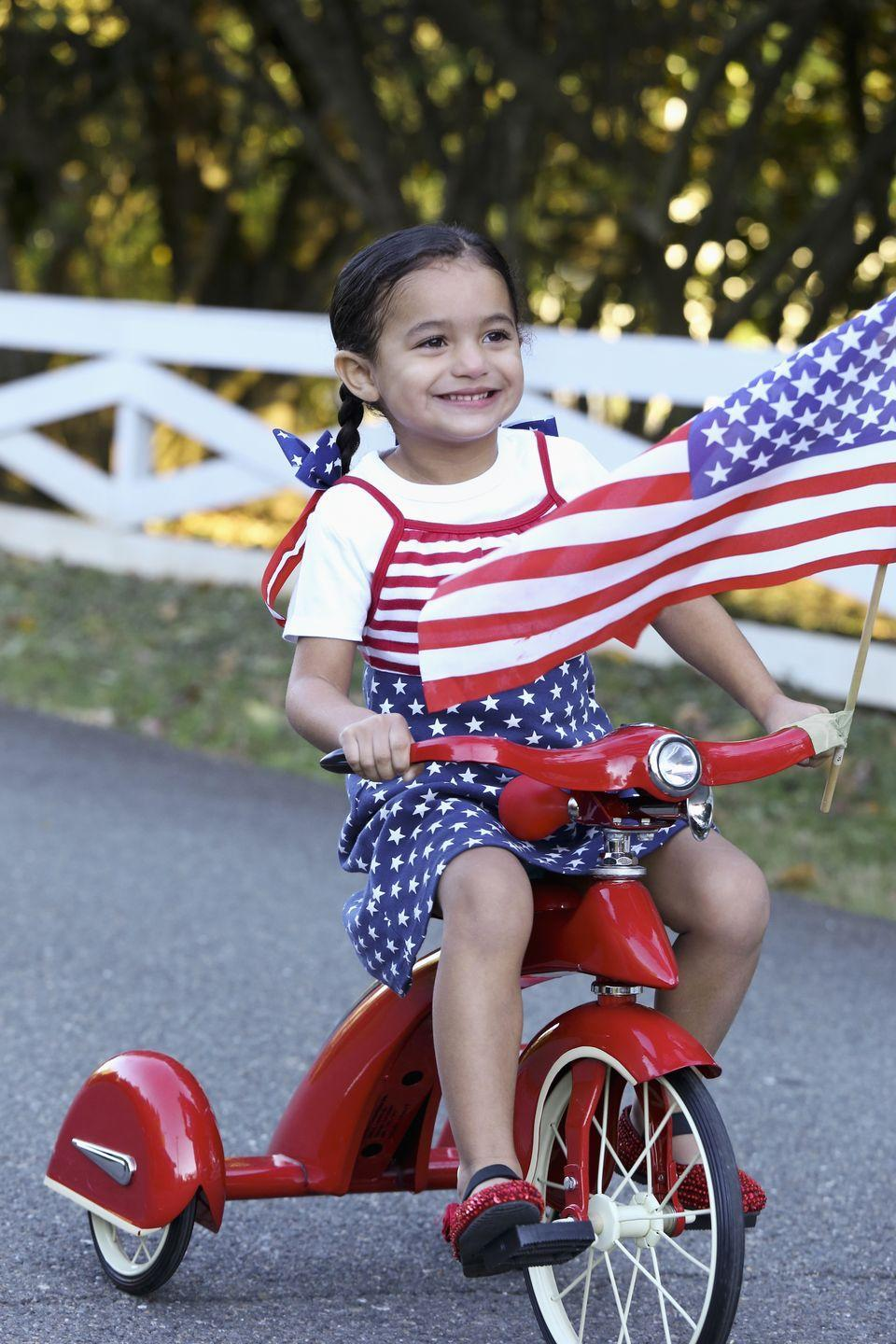 <p>Go for a hike, a long walk, or even a family bike ride this Independence Day. Bonus points if you all have red, white, or blue bikes! </p>