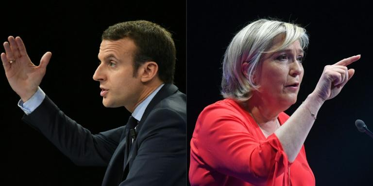 French centrist presidential candidate Emmanuel Macron and far right leader Marine Le Pen have contrasting views on a range of issues