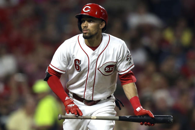 Cincinnati Reds' Billy Hamilton racks up steals and bunts, but can't generate any power. (AP Photo/Aaron Doster)