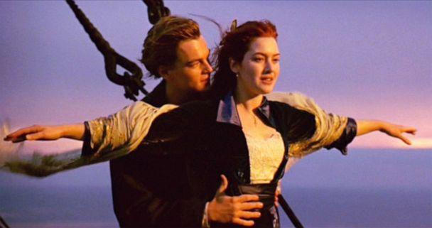 PHOTO: Leonardo DiCaprio as Jack and Kate Winslet as Rose appear in the movie 'Titanic.' (Cbs Photo Archive/CBS via Getty Images)