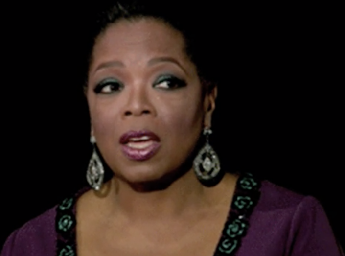 """Oprah in one of her last shows of """"The Oprah Winfrey Show"""""""