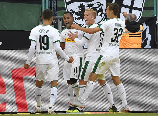 Fabian Johnson (19) scored for Borussia Monchengladbach over the weekend, but his USMNT future is iffy at best. (AP)