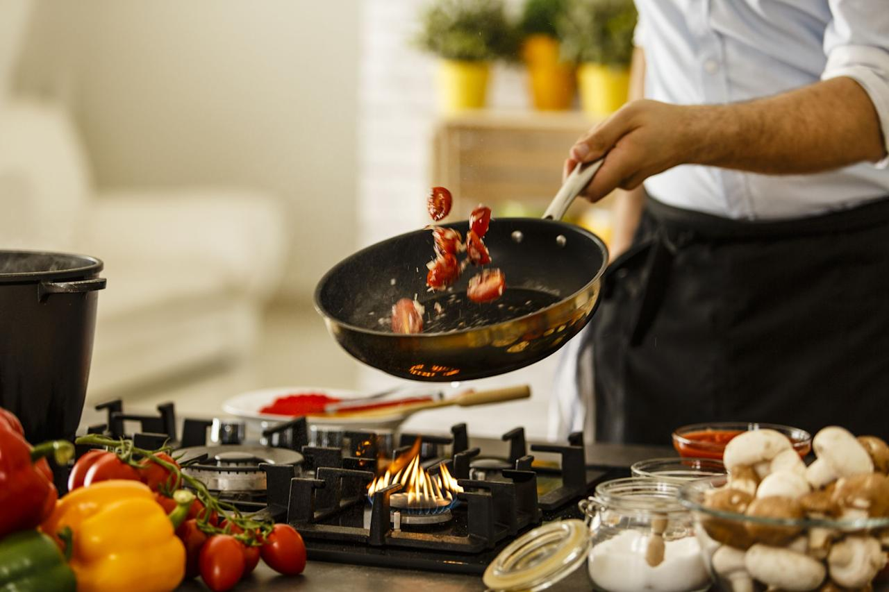 """<p>Purchasing <a href=""""https://www.menshealth.com/technology-gear/a26534723/30-best-cooking-tools/"""" target=""""_blank"""">new cookware</a> can be confusing. But we're here to tell you that every guy needs a good set of stainless steel pots and pans. They're perfect for <a href=""""https://www.menshealth.com/uk/nutrition/a745085/cook-perfect-steak-23463/"""" target=""""_blank"""">searing steak,</a> cooking meals evenly, and they look great too. Of course stainless steel requires more scrubbing, but a little bit of  Bar Keeper's Friend will keep them looking shiny and new.  </p><p>Not sure which set is right for you? We scoured reviews to find the best nonstick cookware sets for any price range and cooking ability. </p>"""