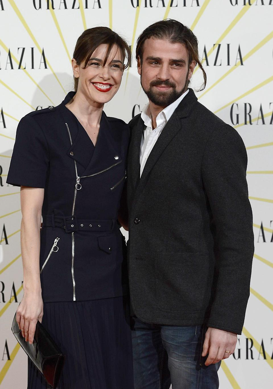 MADRID, SPAIN - FEBRUARY 12:  Raquel Sanchez Silva (L) and Mario Biondo  attend Grazia Magazine launch party at the Circo Prize Theater on February 12, 2013 in Madrid, Spain.  (Photo by Fotonoticias/WireImage)