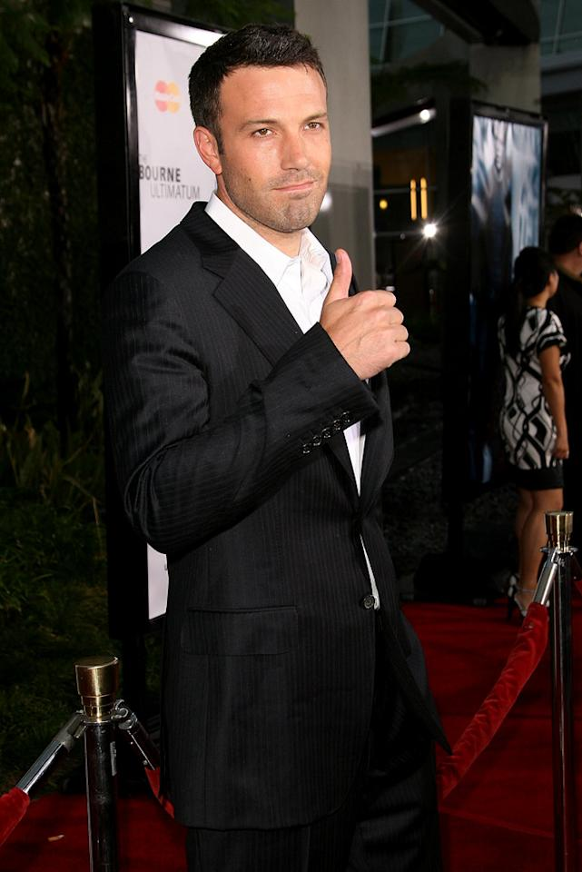 Ben Affleck at the Hollywood premiere of The Bourne Ultimatum - 07/25/2007