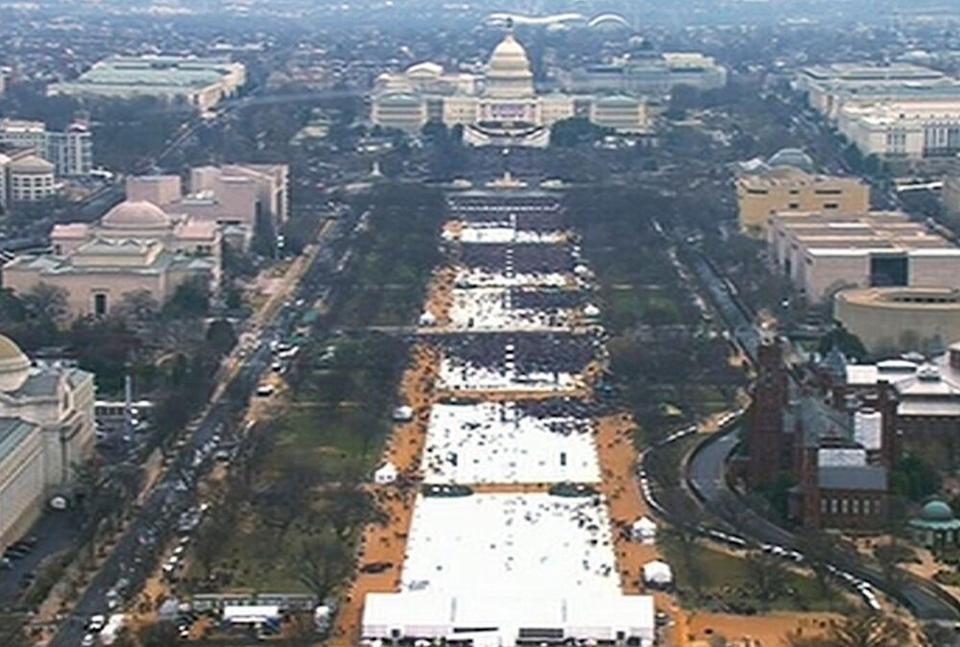 The crowd at President Donald Trump's 2017 inauguration