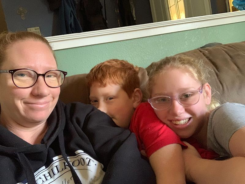 Kimber Rice with her two children. (Kimber Rice)