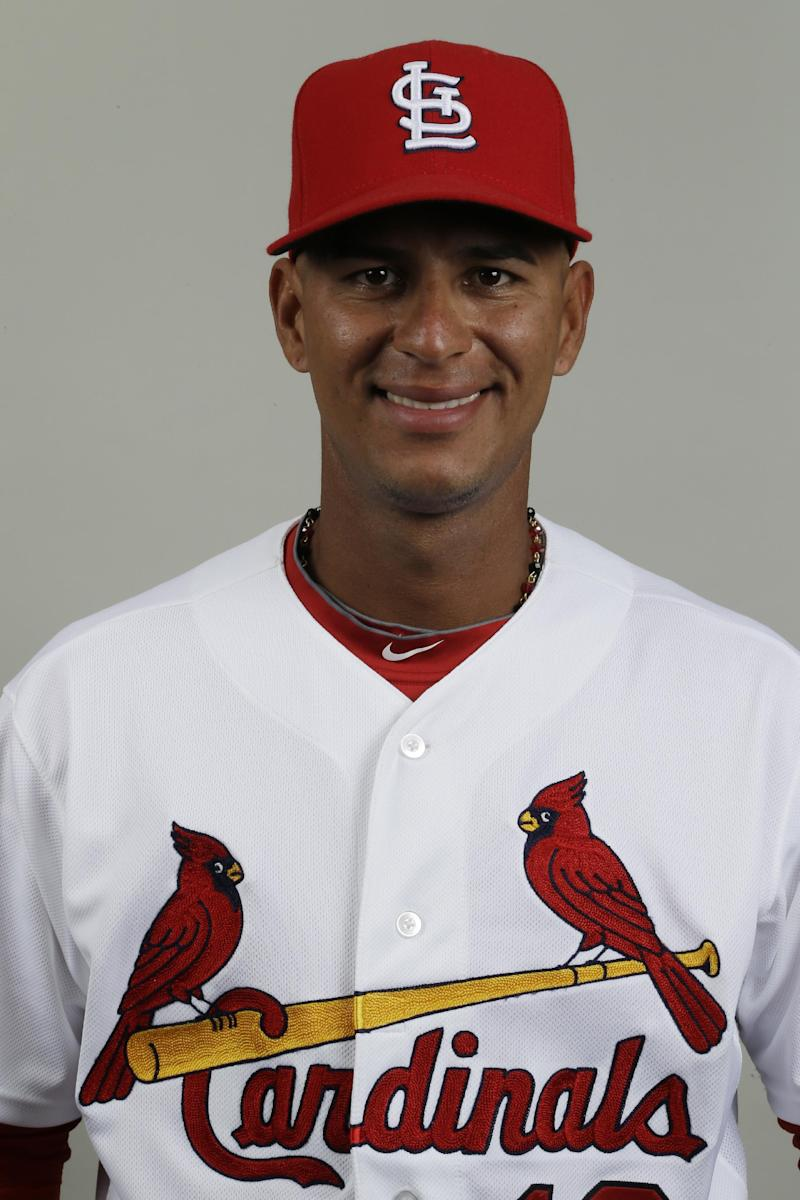 FILE  -  This is a 2013 file photo of Ronny Cedeno of the St. Louis Cardinals baseball team. Cedeno agreed Sunday March 24, 2013, to a one-year contract with the Houston Astros.  (AP Photo/Julio Cortez)