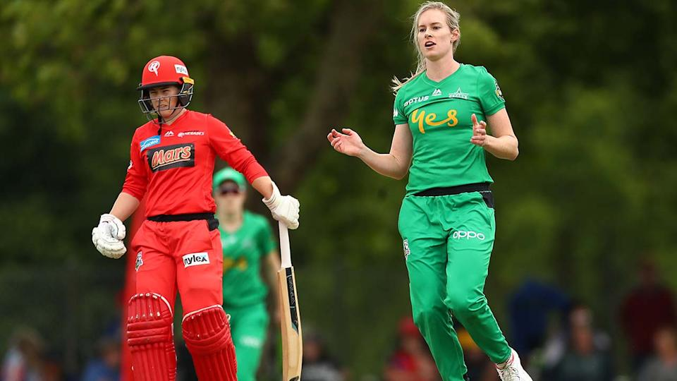 Holly Ferling in action for the Melbourne Stars in the WBBL. (Photo by Kelly Defina/Getty Images)
