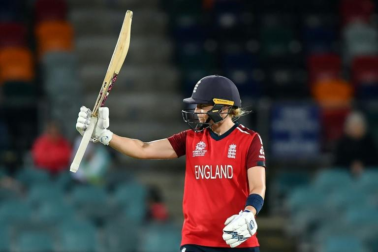 England captain Heather Knight scored 62 against Pakistan (AFP Photo/Saeed KHAN)