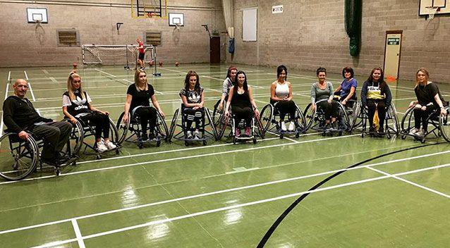 Ms Antoniazzi's friends rallied together to play wheelchair basketball with her. Source: Facebook