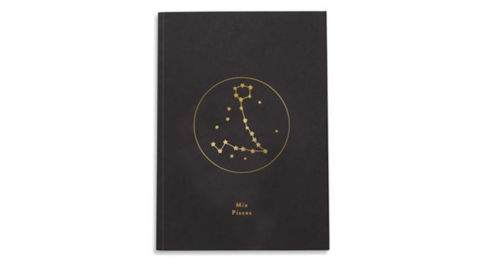 Personalised Zodiac Star Sign Foil Notebook