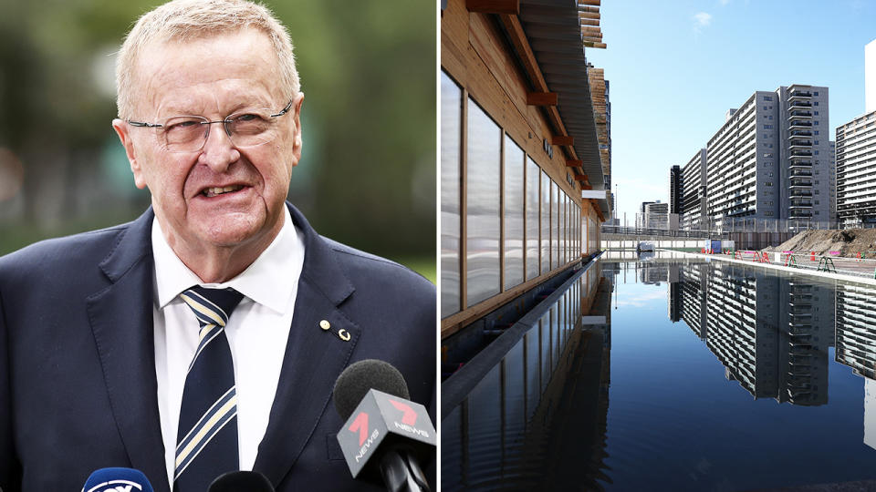 John Coates, pictured here addressing the media in Melbourne.