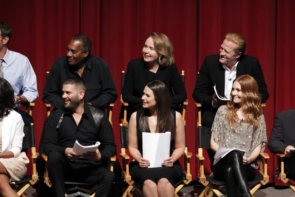 "The cast, guest stars and executive producers of ""Scandal"" attended ""An Evening with Scandal"" at The Academy of Television Arts & Sciences for their season finale table read and Q&A on Thursday, May 16, 2013."