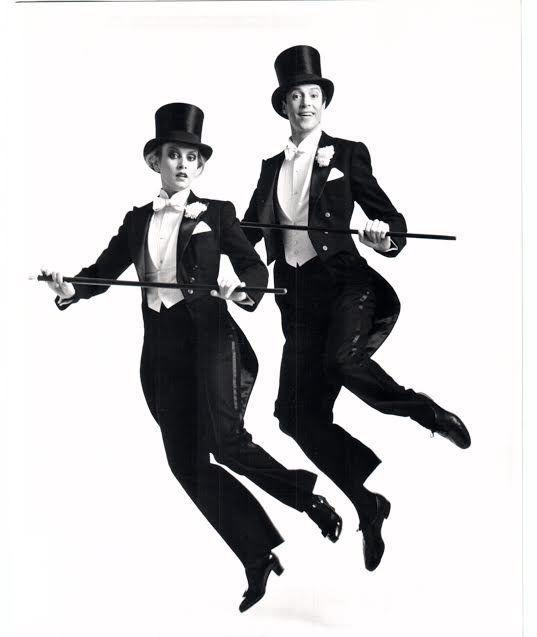 """In 1983, Twiggy (right) and Tommy Tune starred in """"My One and Only"""" on Broadway."""