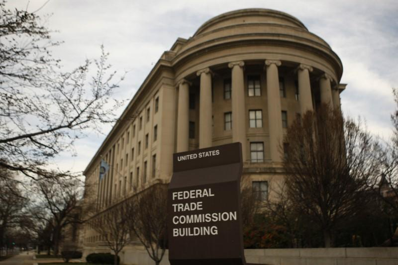 The Federal Trade Commission building is seen in Washington