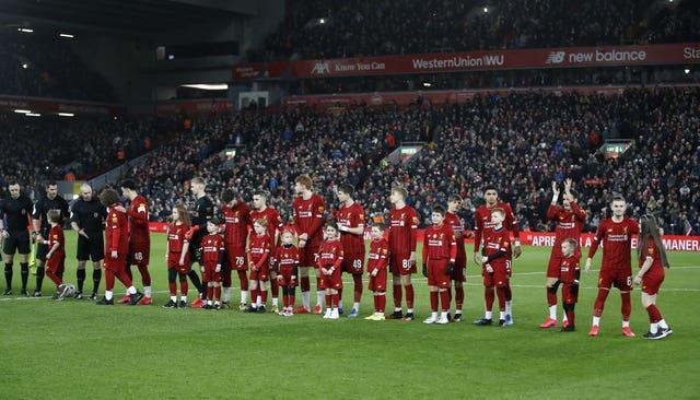 Liverpool played an under-23 side in a fourth-round replay with Shrewsbury in the 2019-20 FA Cup