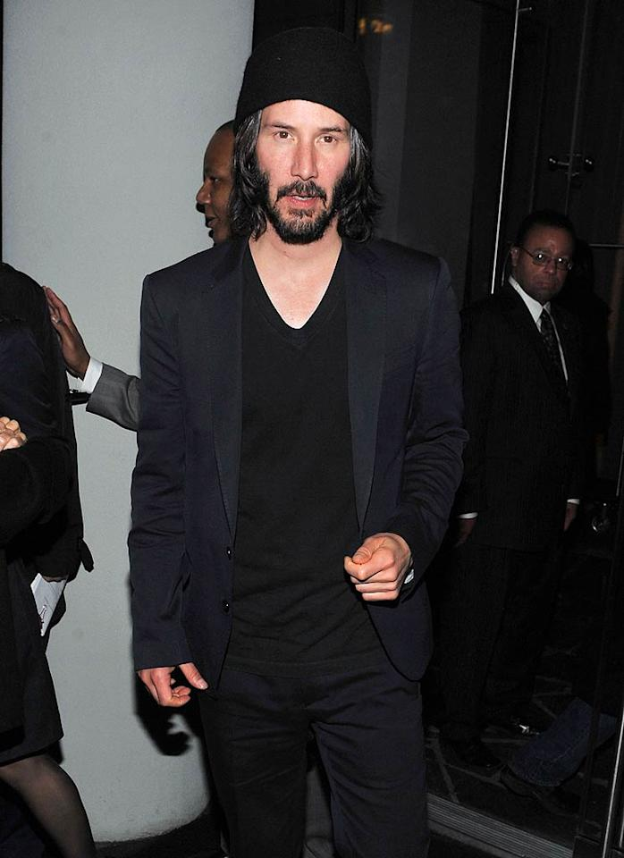 """Keanu Reeves turns 47. Henry S. Dziekan III/<a href=""""http://www.wireimage.com"""" target=""""new"""">WireImage.com</a> - April 4, 2011"""